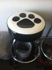 Paw Print Bar Stool