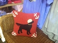 Sailor Black Lab Pillow