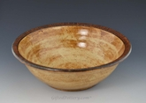 "Handmade Pottery 10.5"" Serving Bowl in Straw Yellow"
