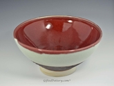 "11.5"" Handmade Porcelain Large Serving Bowl, Red Green"