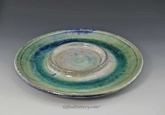 Bread and Oil Plate in Sea Green Crystalline Glaze
