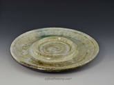 Bread and Oil Plate in Ivory Crystalline Glaze