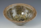 "Caramel Brown 9"" Crystalline Glaze  Bowl with Rich Brown Crystals"