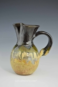 Charming Handmade Pitchers in Caramel and Deep Olive Green