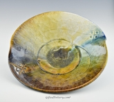 "Crystalline Glaze  11"" Butterfly Bowl in Mountain Vista Glaze"