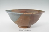 "Handmade Pottery Large Bowl 13"" in Oasis Glaze"