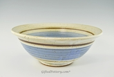 "Handmade Pottery Large Bowl 12"" in Old Republic Glaze"