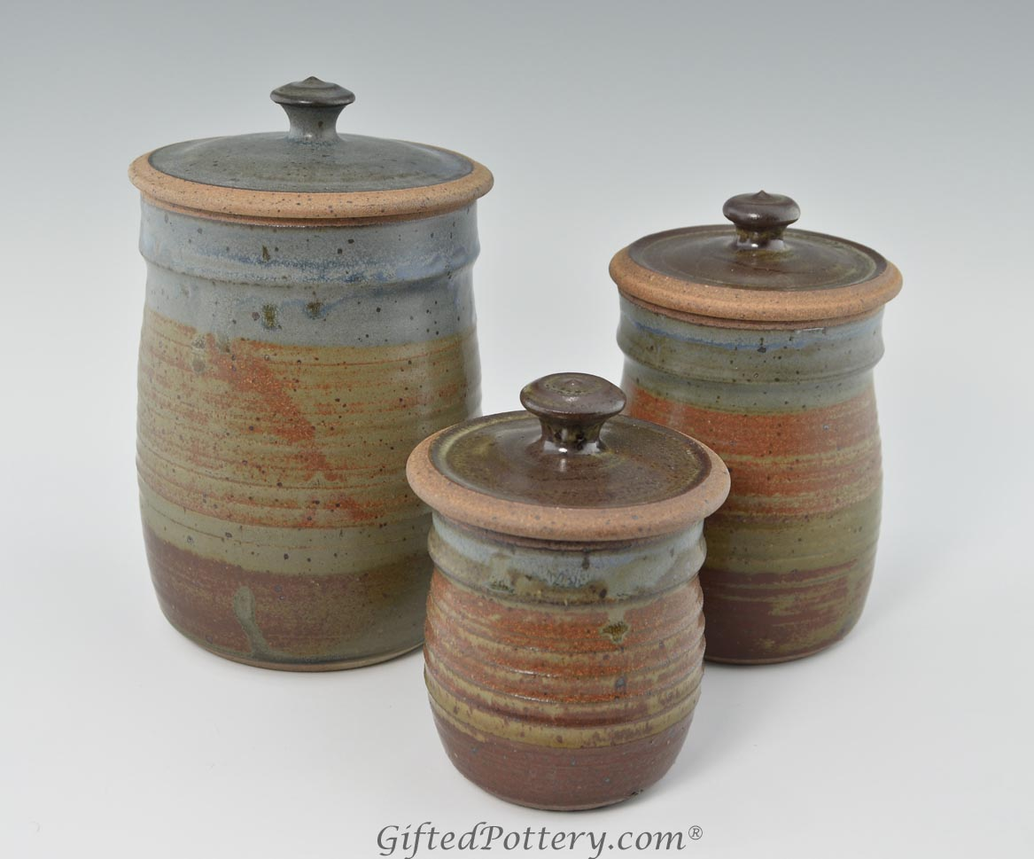handmade pottery canister set oasis glaze giftedpottery com 174 best images about pottery ceramic soup tureen
