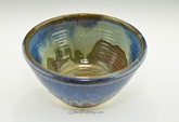 Handmade Pottery Medium Serving / Mixing Bowl in Ocean Blue Glaze