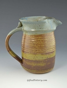 Handmade Pottery Pitcher 24 oz in Oasis Glaze