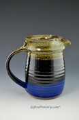 Handmade Pottery Pitcher 24 oz in Storm Glaze
