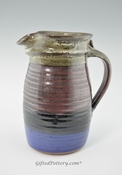 Handmade Pottery Pitcher 72 oz - Storm Glaze