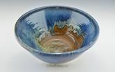Stoneware Pottery Large Serving / Mixing  Bowl in Ocean Blue Glaze