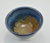 Stoneware Pottery Small Serving / Mixing Bowl in Ocean Blue Glaze