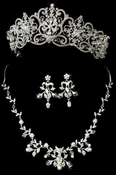 Majestic Tiara and Jewelry Set for Quinceanera, Wedding