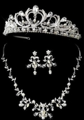 Regal Pearl and Rhinestone Tiara and Jewelry Set