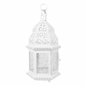 Set of 10 Lacy White Candle Lantern Wedding Centerpieces