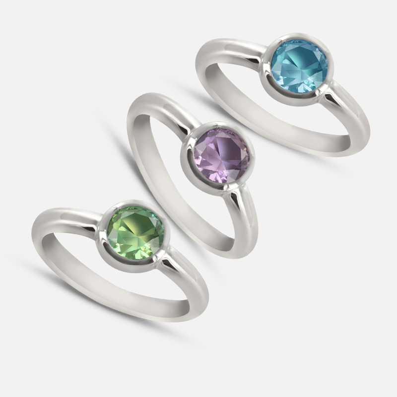 birthstone ring stackable shoponlinedeals