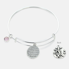 Inspirational Mother Holds Her Childs Hand Bangle