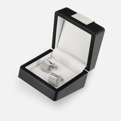 Personalized Cuff Links Plated Silver
