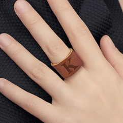 Personalized Leather Ring