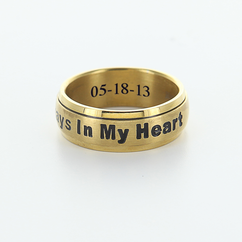 "Personalized Single Stainless Steel Band ""Always In My Heart"""