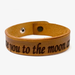 Personalized Speacial Message Leather Bracelet