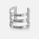 Personalized Triple Strap Ring