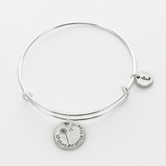 Personalized Wishes Do Come True Charm Bangle