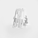 Sterling Silver Monogram Ring in Block Letters