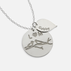 Sterling Silver Personalized Family necklace