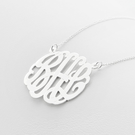 Traditional Silver Monogram Necklace