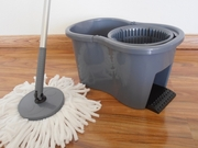 DynaMop® ECO-Plunger Hand-Press (No Pedal) 360° Spin Mop