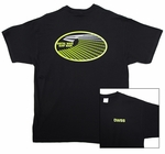 Barrel Digital Wave Right Perspective Dark T-Shirt