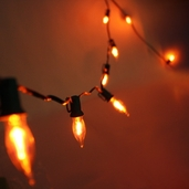 10 Bulb Flicker Flame Light Strand - 9ft. - Orange
