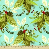 12 Days of Christmas Cotton Fabric - Blue