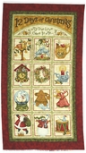 12 Days of Christmas Cotton Fabric - Panel 03750-10