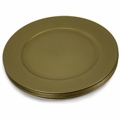 12 Inch Round Plastic Charger Plates - Gold - Set of 6