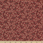 1862 Battle Hymn Cotton Fabric - Chantilly New Bern Red