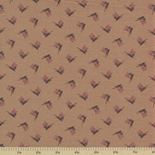 1862 Battle Hymn Cotton Fabric - Shiloh Sharsburg Tan