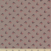 1862 Battle Hymn Cotton Fabric - Shiloh Stonewall Gray