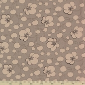 1862 Battle Hymn Cotton Fabric - Stonewall Gray Cotton Plant