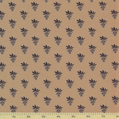1862 Battle Hymn Cotton Fabric - Tan Blue