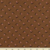 1862 Battle Hymn Cotton Fabric - Walnut 8225-14