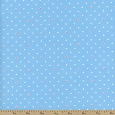 1930's Classics Dot Cotton Fabric - Blue