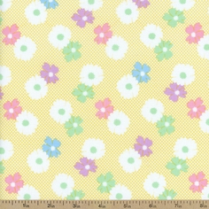 1930's Classics Floral Cotton Fabric - Yellow