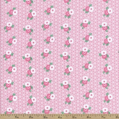 1930's Classics Medium Floral Cotton Fabric - Pink