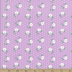 1930's Classics Medium Floral Cotton Fabric - Purple