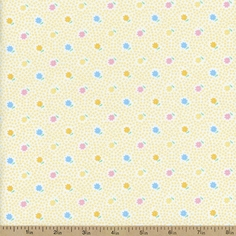 1930's Classics Small Floral Cotton Fabric - Yellow