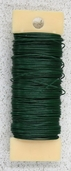 22 Gauge Floral Paddle Wire - Green